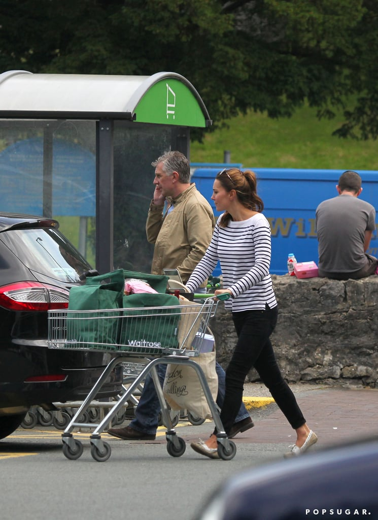 Kate Middleton visited the market on the island of Anglesey.
