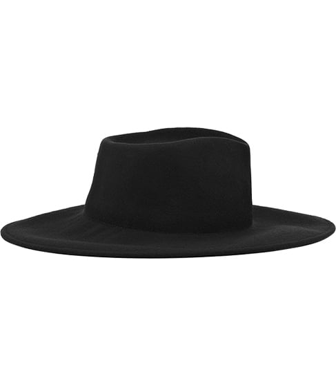 A wide-brimmed fedora, like this Reiss iteration ($105), will not only keep your ears toasty, it will provide a protection from the drizzle.