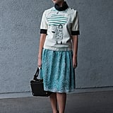 Her quirky Brian Rea for Marni top got the sophisticated styler treatment. Source: IMAXtree