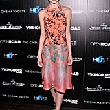 Sami Gayle wore a bright frock.