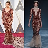 Chrissy Wearing a Fall '16 Marchesa Dress
