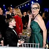 Iain Armitage and Meryl Streep at the 2020 SAG Awards