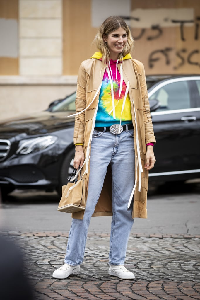 Give basic jeans an upgrade with a brilliant pop of color