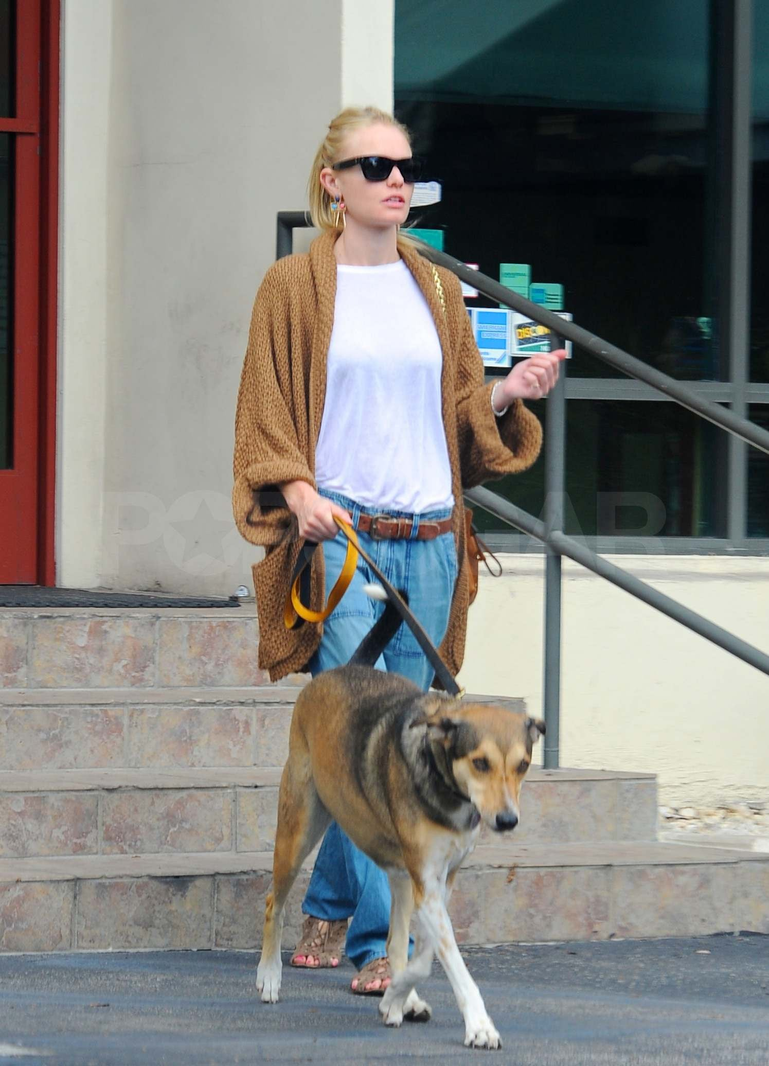 Pictures Of Kate Bosworth Walking Her Dog And Eating With