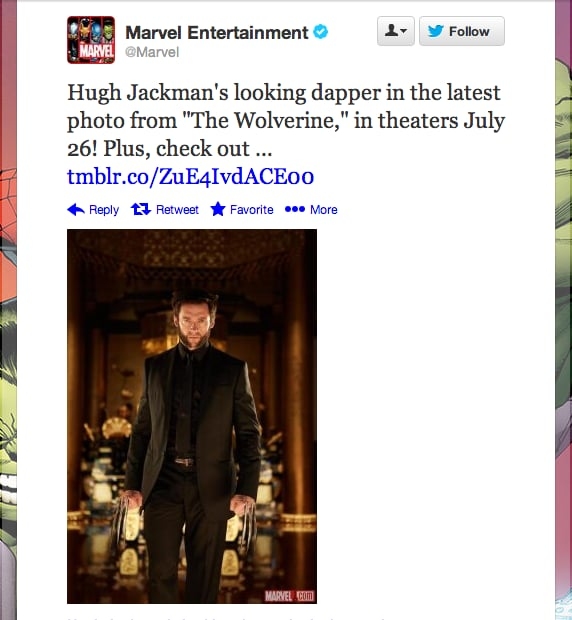 Wolverine cleans up real nice, doesn't he? We can't wait for Marvel Entertainment to release the film on July 26.