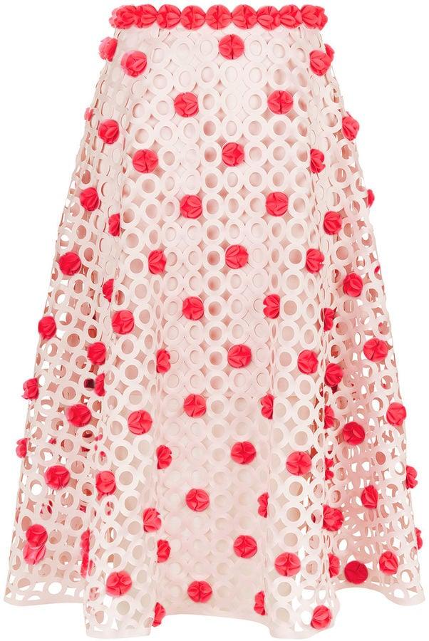Paskal Blush Pink Laser-Cut Skirt ($880)