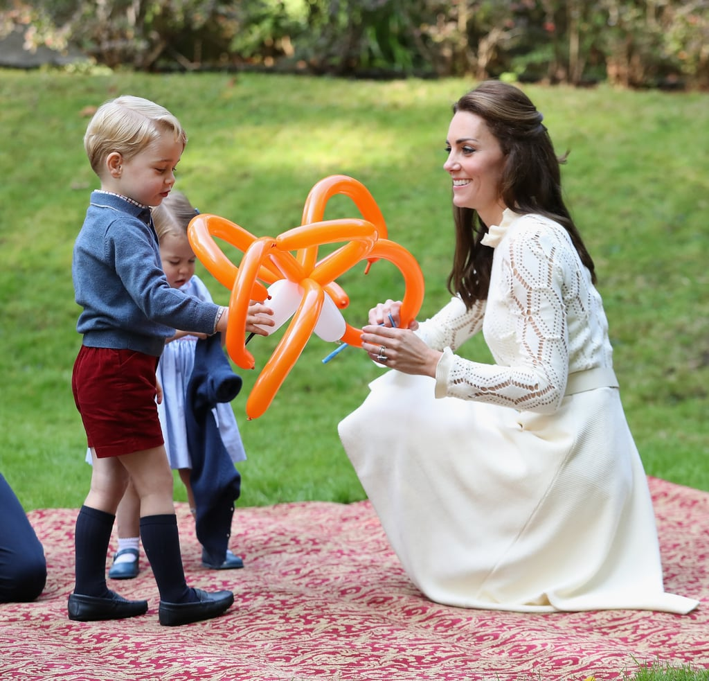 Kate Playing With George and Charlotte, 2016