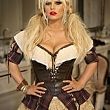 Jessica Simpson was a milkmaid for Halloween.