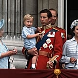 Prince William at Trooping the Colour in 1984 in a Blue Romper