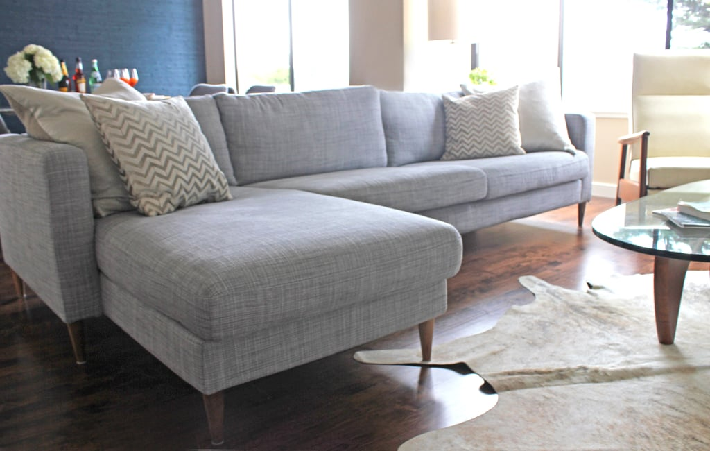 sofa ikea Dress Up an Ikea Sofa by Replacing the Legs | Home Hacks  sofa ikea
