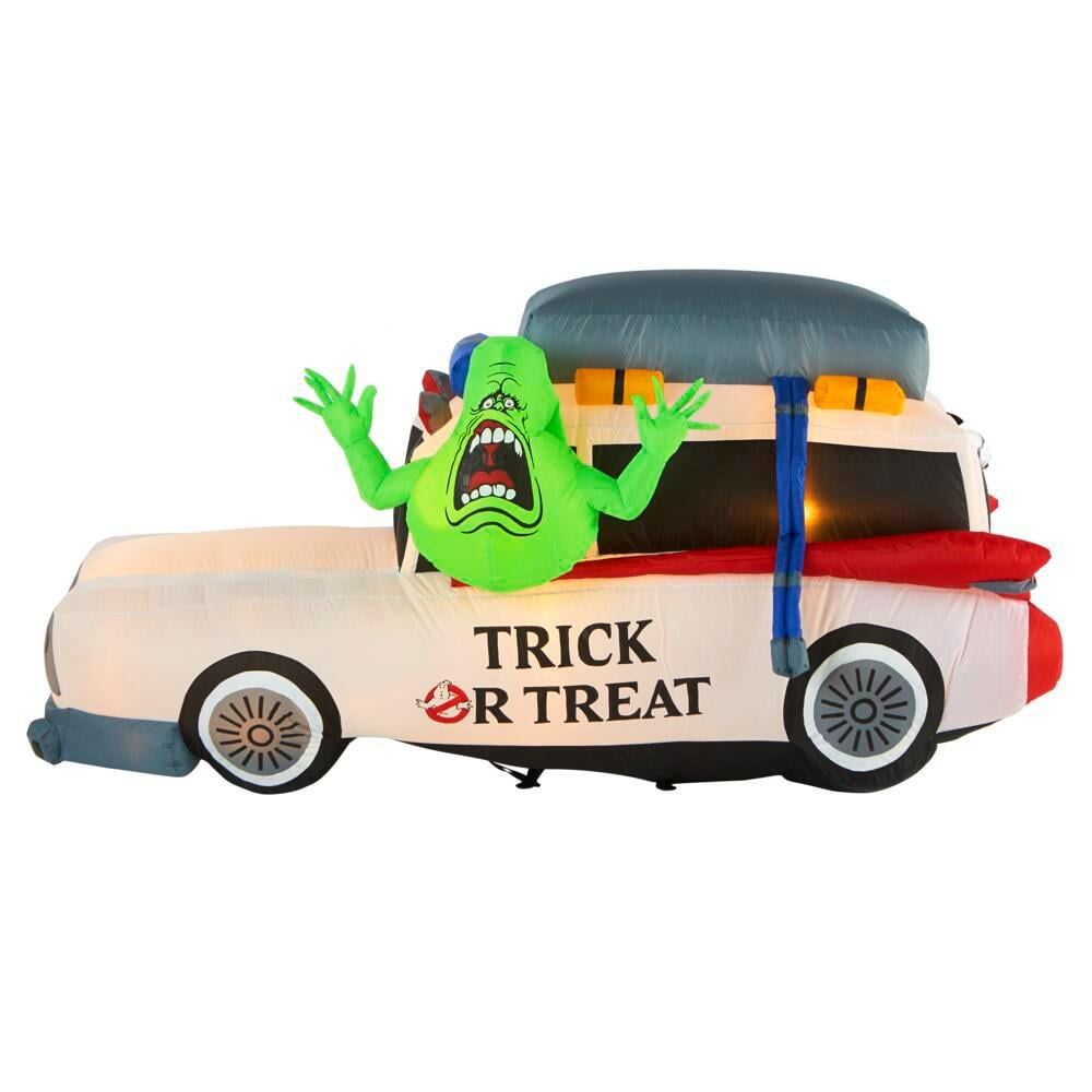 Ghostbusters Ecto 1 with Slimer Halloween Inflatable