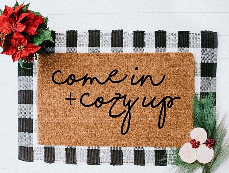 Come in + Cosy Up Doormat
