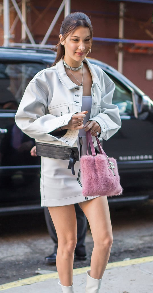 Buy Bella Hadid's Pink Fluffy Chrome Hearts Bag Online