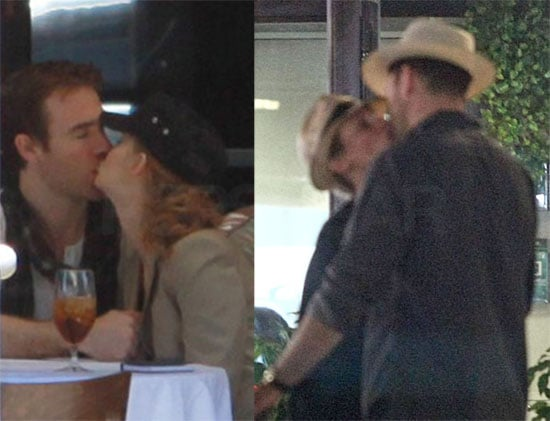 Pictures of James van der Beek Kissing