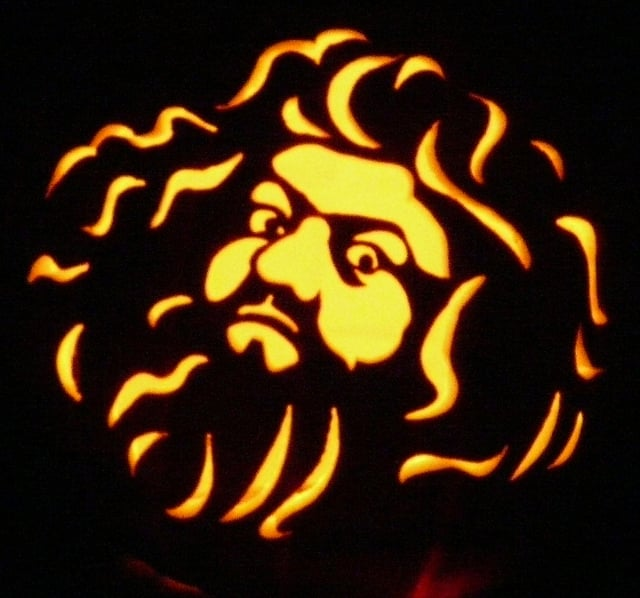 Hagrid 39 s curly locks look great all lit up harry potter for Harry potter pumpkin carving templates