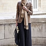 Another rendition on the maxi skirt style we love, this one with camel counterparts and gorgeous and Parisian-chic polka dots.