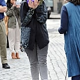 Lena Dunham stifled her laughter in NYC on Wednesday.