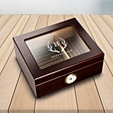 Personalized Glass Top Cigar Humidor