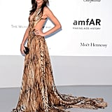 Ana Beatriz Barros stunned in a tiger-printed gown, with a sexy backless cutout to boot.