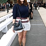 Gemma Arterton arrived at the Chloé show on Sunday.