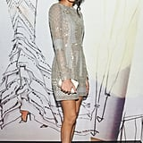 Chanel Iman at the opening of the Madison Avenue J. Mendel boutique.