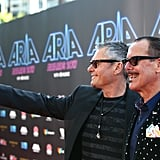 Andrew Farriss and Kirk Pengilley of INXS