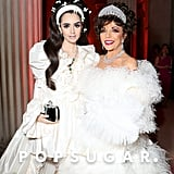 Lily Collins and Joan Collins