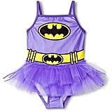 Justice League Batman Girls' 1-Piece Tutu Swimsuit