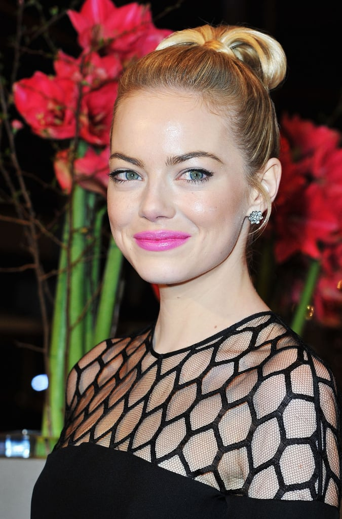 Emma Stone Modern Updos Buns And Chignons Celebrity Hair How