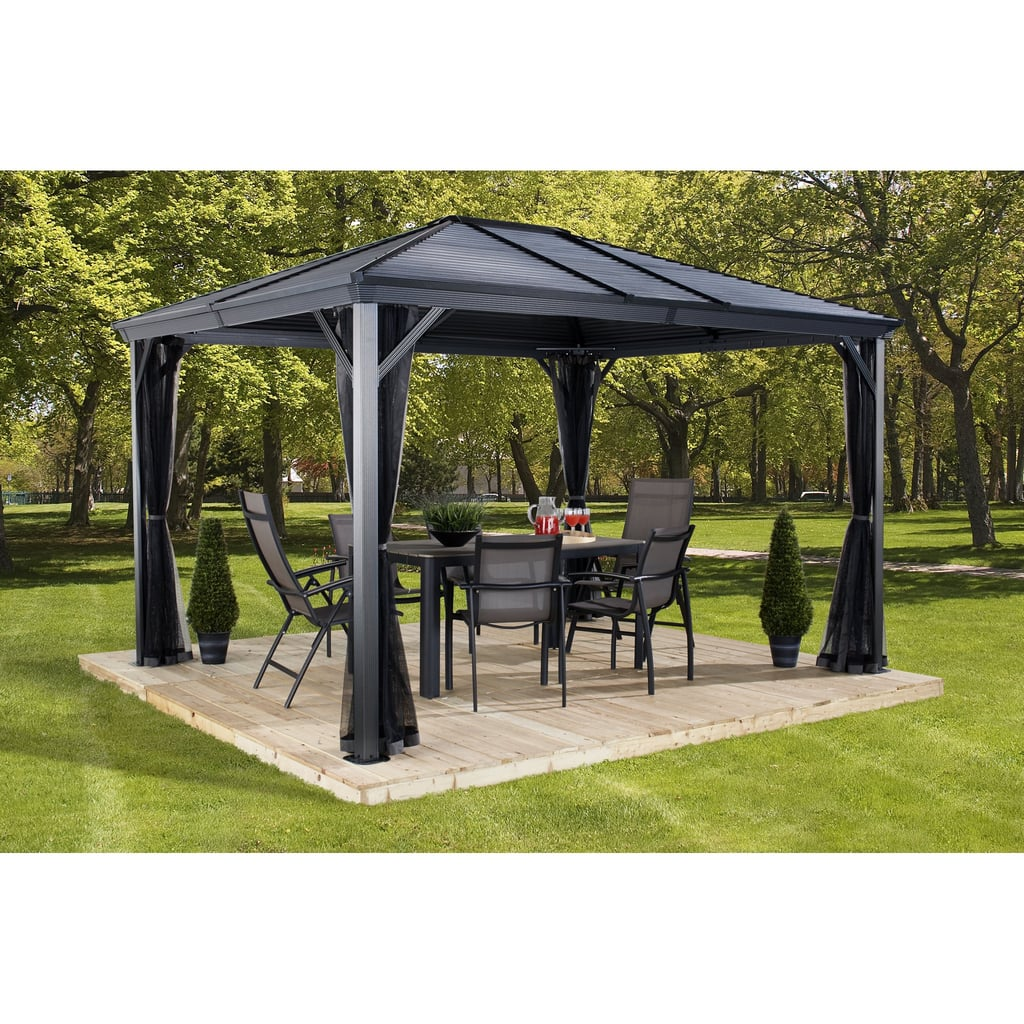 Gazebo With Galvanised Steel Roof and Mosquito Netting