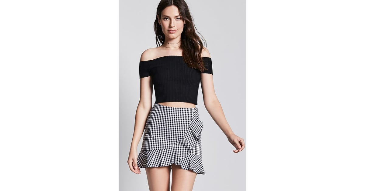 Forever 21 Gingham Ruffle Mini Skirt | Fall Outfit Ideas ...