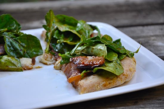 Fig and Prosciutto Pizza With Balsamic Arugula Salad