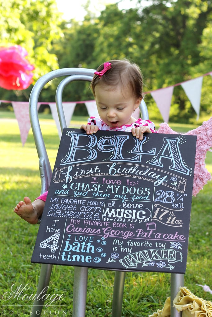 Custom First Birthday Poster