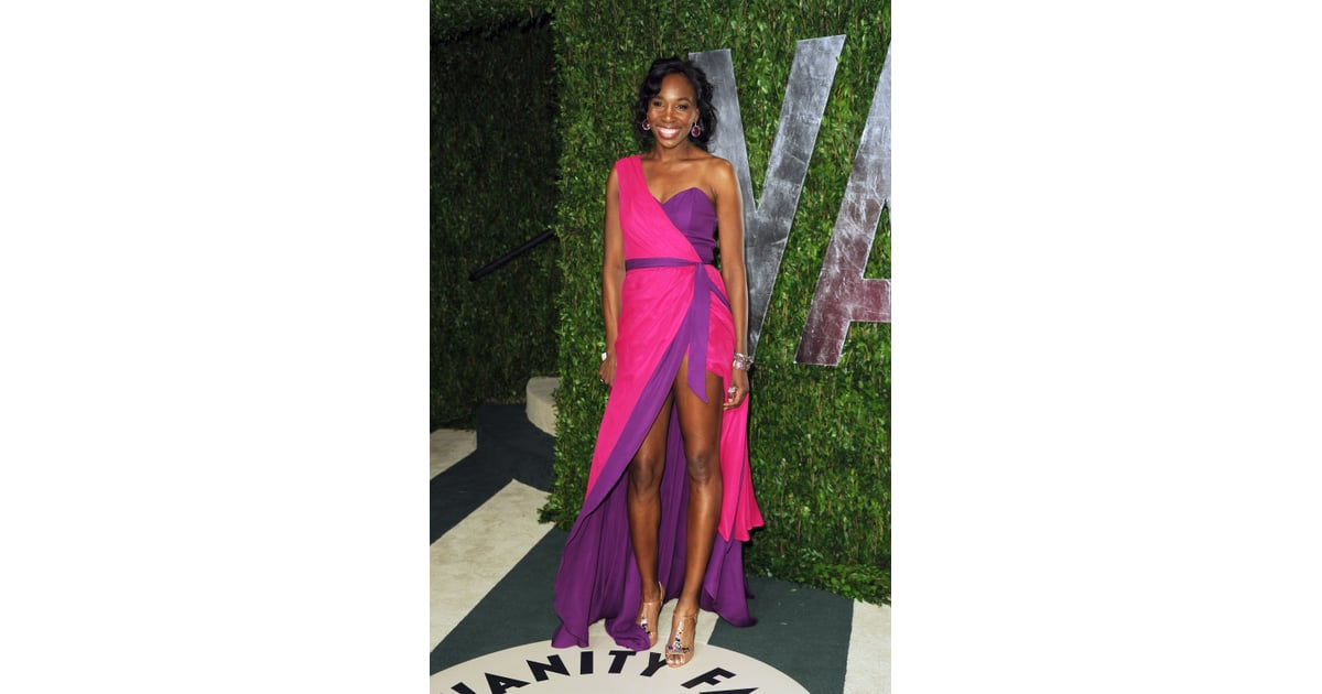 Venus Williams Rocked A Seriously Sexy Look In Barely There  Sexy Oscars Dresses 2012 -2836