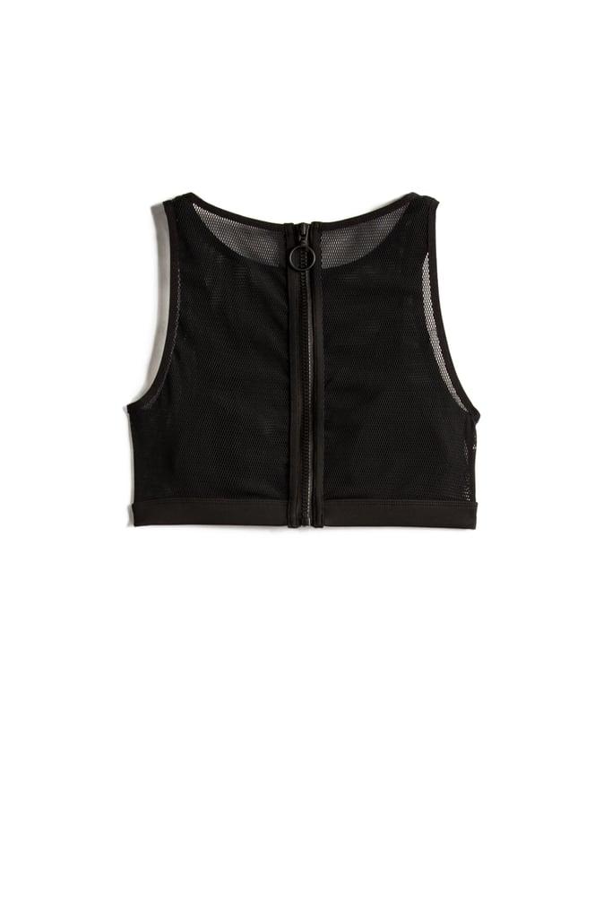 Black Mesh Bikini Top