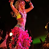 Shakira shook it beyond in ultra exotic Roberto Cavalli at the World Cup closing ceremony.