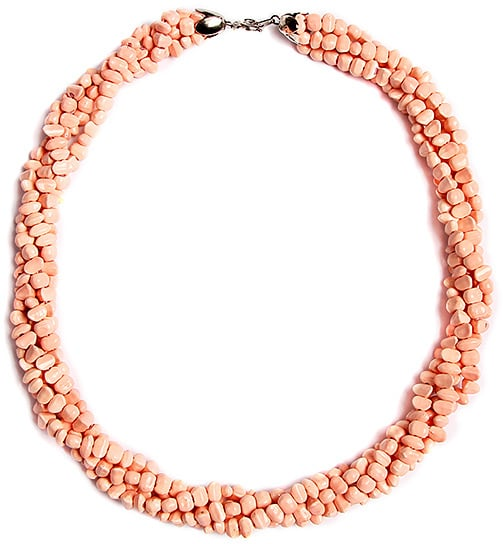 Pink Bead Twist Statement Necklace ($21)