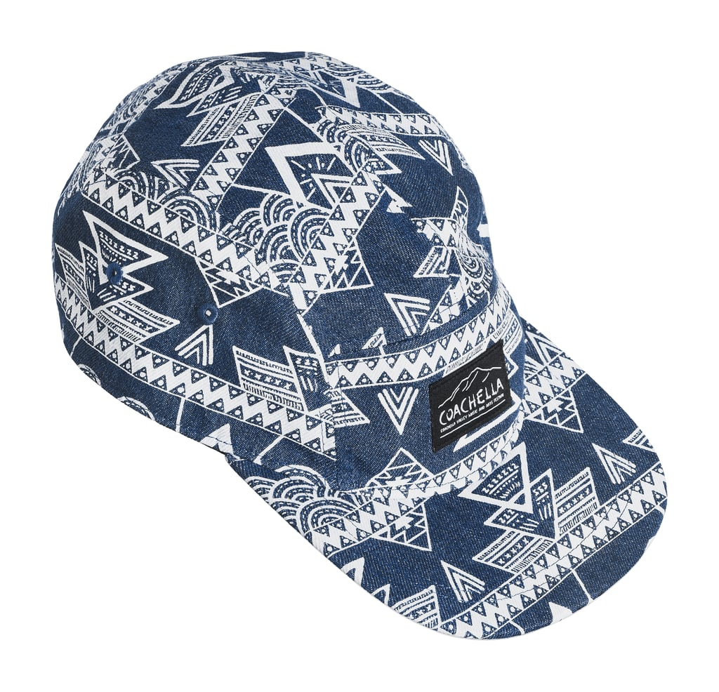 H&M LOVES COACHELLA Patterned Denim Cap ($13)