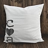 Initialed Pillow Cover