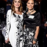 Queen Rania and Princess Victoria Attended the 2016 Global Goals Awards Dinner