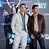 Channing Tatum and Matthew McConaughey posed for Magic Mike in Berlin.