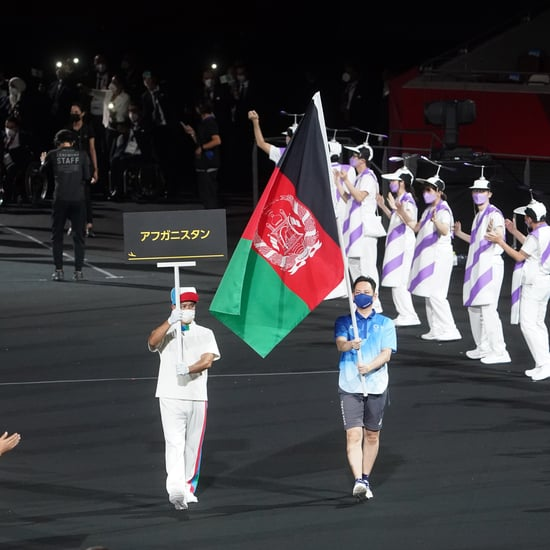 Afghanistan Flag Carried In at Paralympics Opening Ceremony