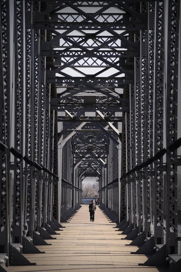 Broken Bridge Between China and North Korea