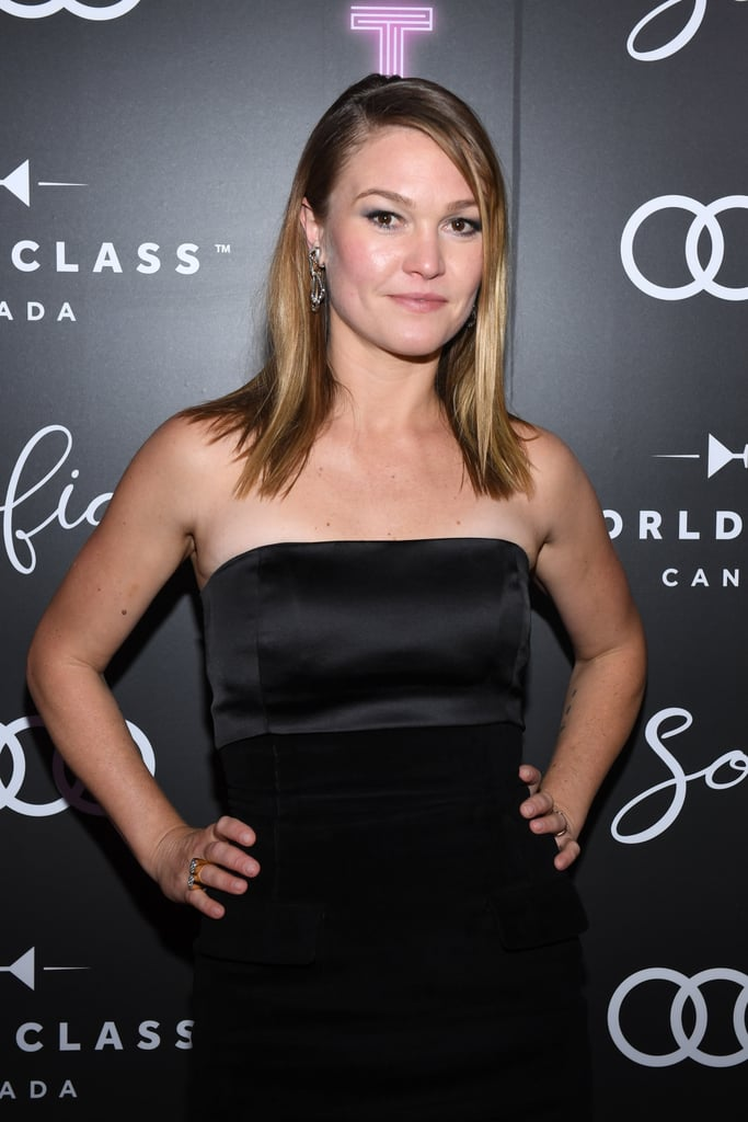 Julia Stiles at the Hustlers Premiere in Toronto
