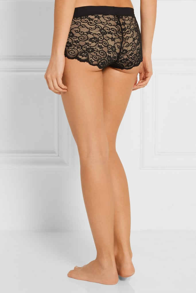 Commando Double Take set of two stretch-lace boy shorts ($70)