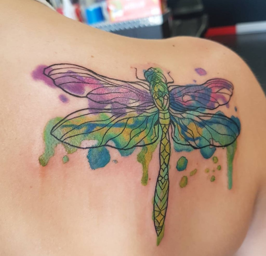 9398aef7b Dragonfly Tattoo Ideas | POPSUGAR Beauty