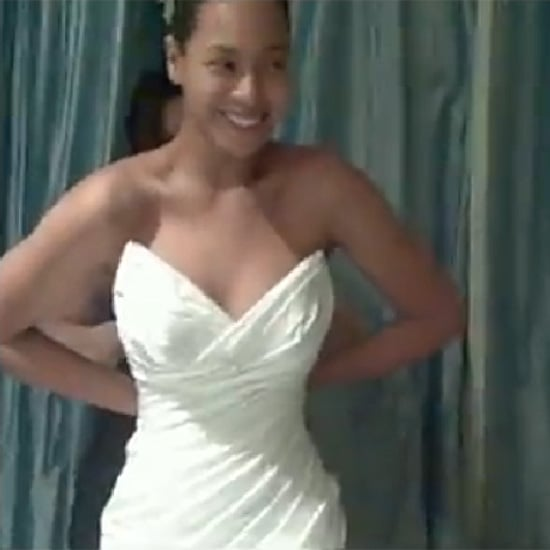 "Beyonce Knowles ""I Was Here"" Wedding Dress Pictures"