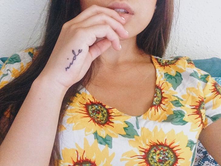 "A Lana Del Rey Homage ""Ride"" Wrist Tattoo"