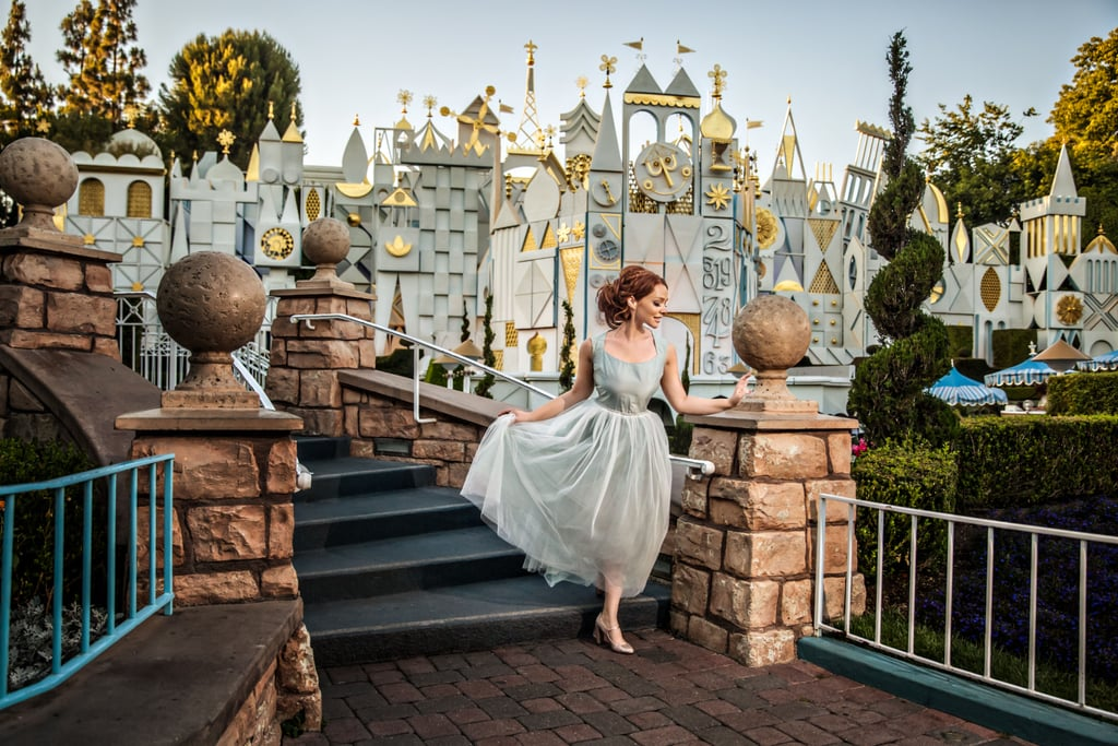 """Just three weeks before Brooke Lowry's engagement photo shoot, her relationship ended. But instead of canceling her photography appointment at Disneyland for a fairy-tale day, Brooke decided to do the shoot on her own. She has always loved Disney and being a princess for the day was an empowering experience for her. """"Even when it seems impossible and even when it's hard, you can be your own knight in shining armor,"""" she told POPSUGAR in an email. """"It's okay to feel what you feel- all you have to do is make it to the next moment, then that next moment becomes the next hour, then the next day, then the next week, then month, and before you know it, your heart remembers how to smile."""" Since Brooke took the photos, they have gone viral. People everywhere have been sending positive messages. """"Just because I would like a prince of my own someday does not mean that I am incomplete without one, nor does it mean that you are. There is beauty in the differences of our dreams and no two princesses or hearts are alike."""" We love her decision to go forward with the photo shoot and the message it sends to other women. Make sure to check out all of her beautiful photos."""