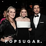 Meryl Streep, Greta Gerwig, and Adam Driver at the 2020 Golden Globes